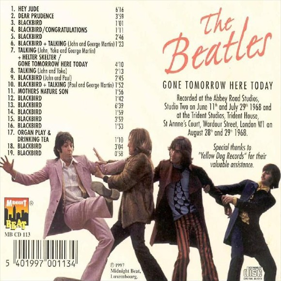 The Beatles - Gone Tomorrow Here Today-back
